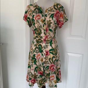 LOFT Button Down Floral Dress